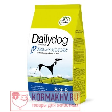 DailyDog ADULT MEDIUM and LARGE BREED Fish and Potato