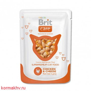 BRIT Care Cat CHICKEN & CHEESE (пауч)