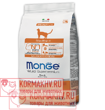 Monge Cat Monoprotein Sterilised Duck