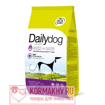 DailyDog ADULT MEDIUM and LARGE BREED Duck and Oats