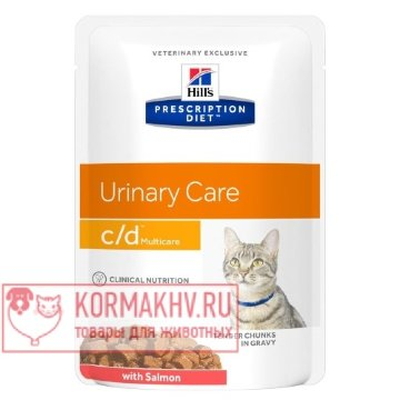Prescription Diet c/d Multicare Feline Tender Chunks in Gravy with Salmon (ПАУЧ)