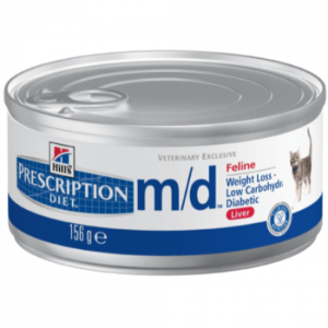 Prescription Diet Feline m/d Minced with Liver  с печенью (БАНКА)